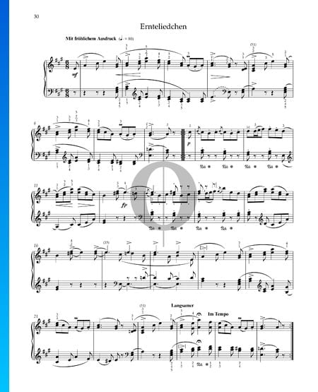Harvest Song, Op. 68 No. 24 Sheet Music