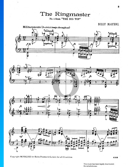 The Big Top Suite: No.1 The Ringmaster Sheet Music