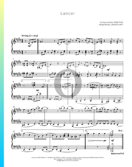 Lancer Sheet Music