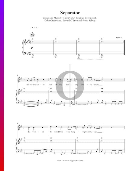 Separator Musik-Noten