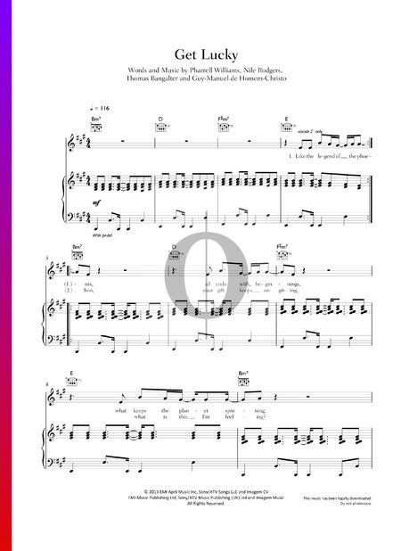 Get Lucky Musik-Noten