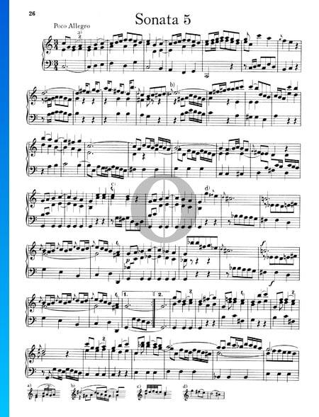 Sonata n.º 5, Wq 48: 1. Poco Allegro Partitura
