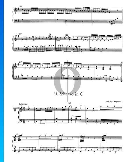 Scherzo en Do Majeur, No. 31 Partition