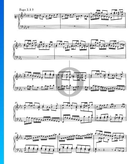 Fugue 2 Do mineur, BWV 847 Partition