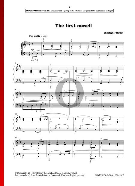 The First Nowell Musik-Noten