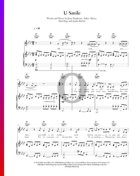 U Smile Sheet Music