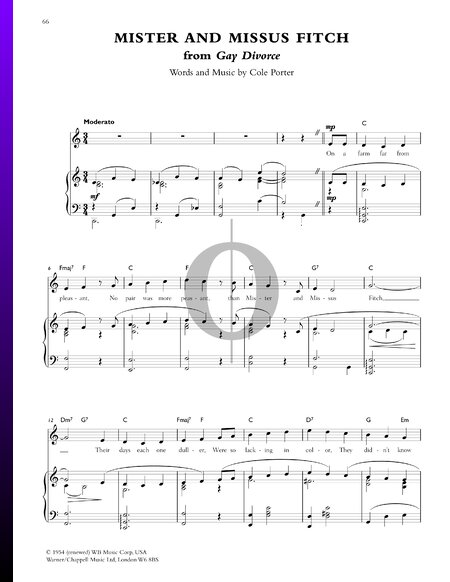 Mister and Missus Fitch Sheet Music