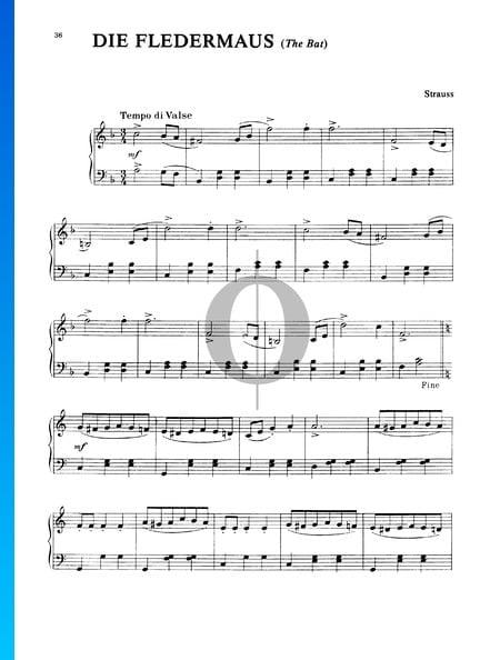 Die Fledermaus (Walzer) Sheet Music