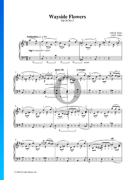 In the Country, Op. 26: Nr. 2 Wayside Flowers Musik-Noten