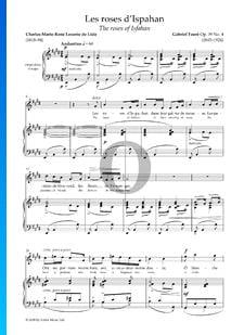 Les roses d' Ispahan, Op. 39 No. 4