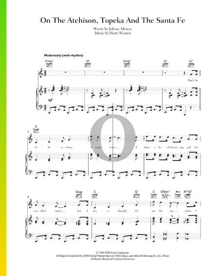 On The Atchison, Topeka And The Santa Fe Sheet Music