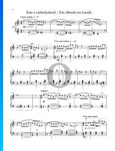 Zehn Leichte Klavierstücke, Sz. 39: Nr. 5 Ein Abend am Lande