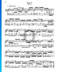French Suite No. 5 G Major, BWV 816: 1. Allemande