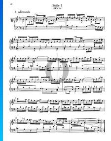 Suite francesa n.º 5 en sol mayor, BWV 816: 1. Alemanda