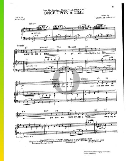 Once Upon A Time Sheet Music
