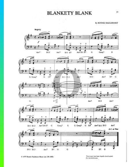 Blankety Blank Musik-Noten