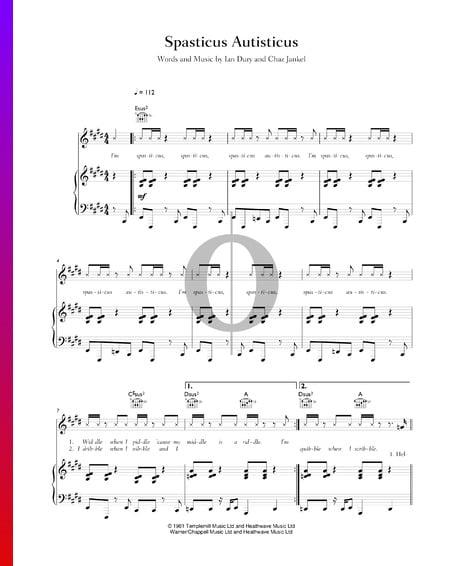 Spasticus Autisticus Musik-Noten