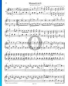 Minuet in G Major, KV 315a (315g), No. 8