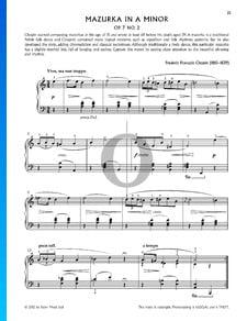 Mazurka in A Minor, Op. 7 No. 2