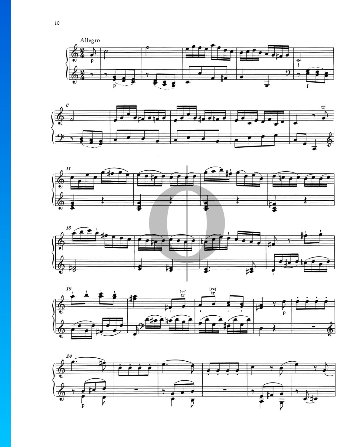 ▷ Piano Sonata No  1 C Major, KV 279 (189d): 3  Allegro