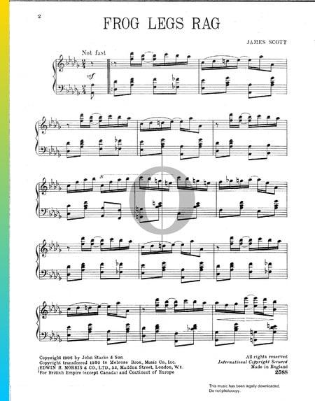 Frog Legs Rag Musik-Noten