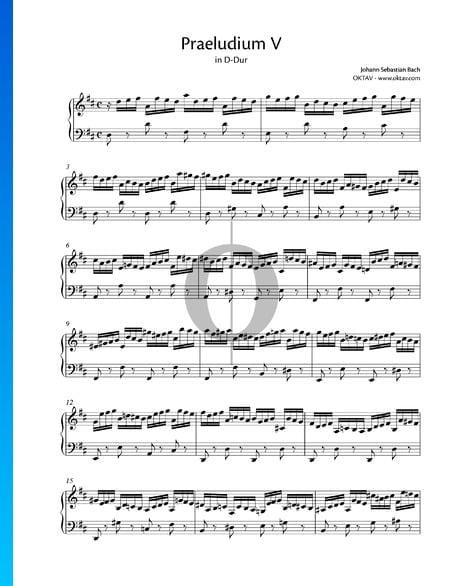 Praeludium 5 D-Dur, BWV 850 Musik-Noten