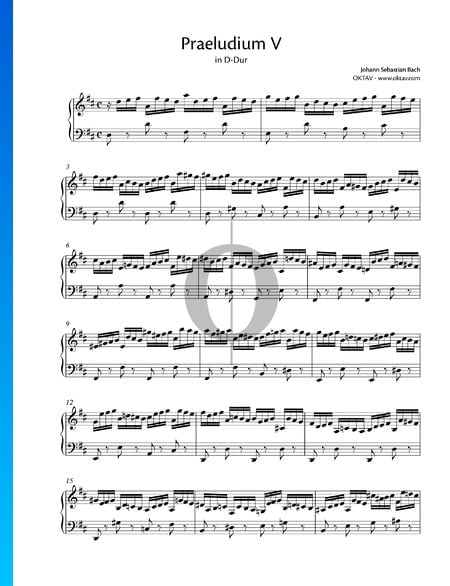 Prelude 5 D Major, BWV 850 Sheet Music