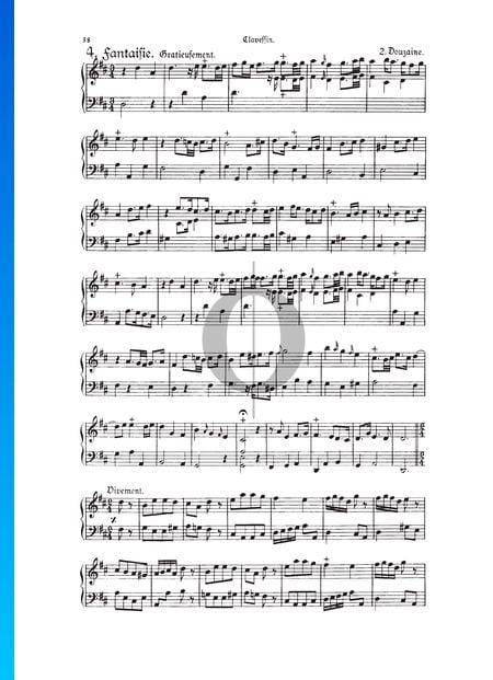 Fantasie, Douzaine II Nr. 4: Gracieusement, TWV 33:16 Musik-Noten