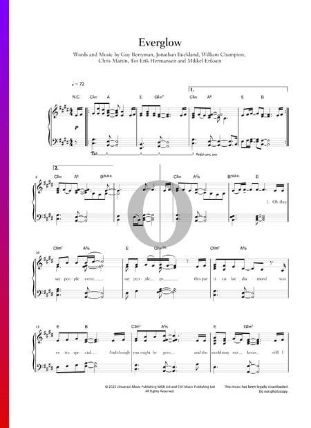Everglow Musik-Noten