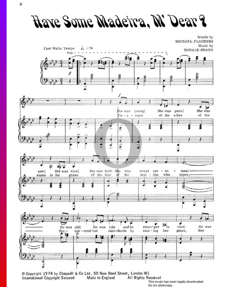 Have Some Madeira, M'Dear? Partitura