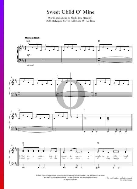 Sweet Child O' Mine Musik-Noten
