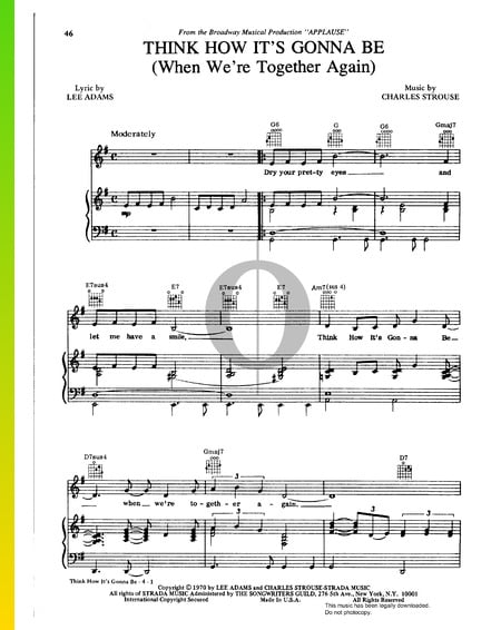 Think How It's Gonna Be (When We're Together Again) Sheet Music