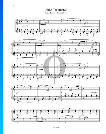 Dulces sueños, Op. 39 n.º 21 Partitura