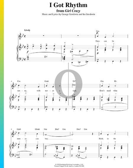 I Got Rhythm Musik-Noten