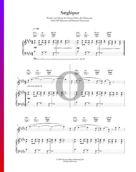 Sæglópur Musik-Noten