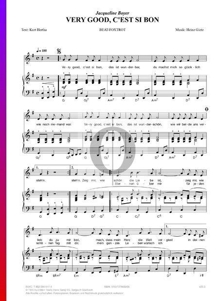 Very Good, c'est si bon Sheet Music