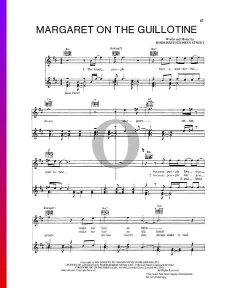 Margaret On The Guillotine Musik-Noten