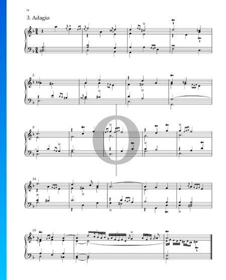 Suite No. 2 en Fa Majeur, HWV 427: 3. Adagio Partition
