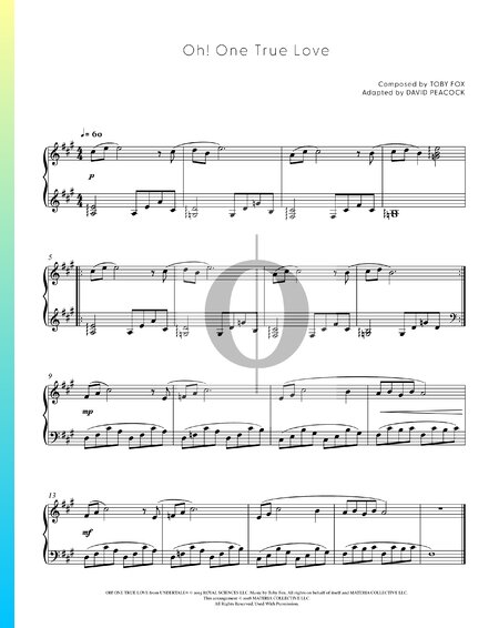 Oh! One True Love Sheet Music