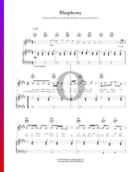 Blasphemy Musik-Noten