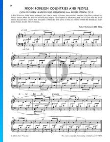 Scènes d'enfants, Op. 15 No. 1: Gens et pays étrangers