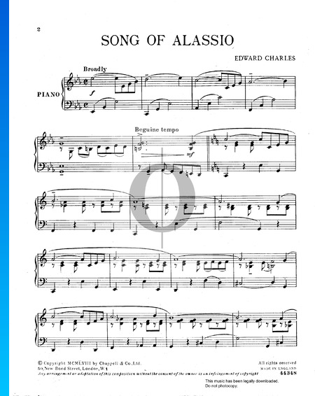 Song Of Alassio Sheet Music