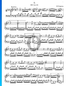 Rondeau B-flat Major, BWV Anh. 183