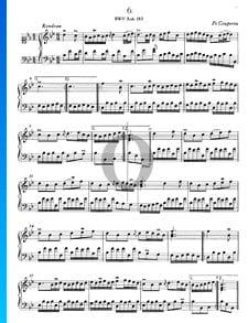 Rondeau en Si bémol Majeur, BWV Anh. 183
