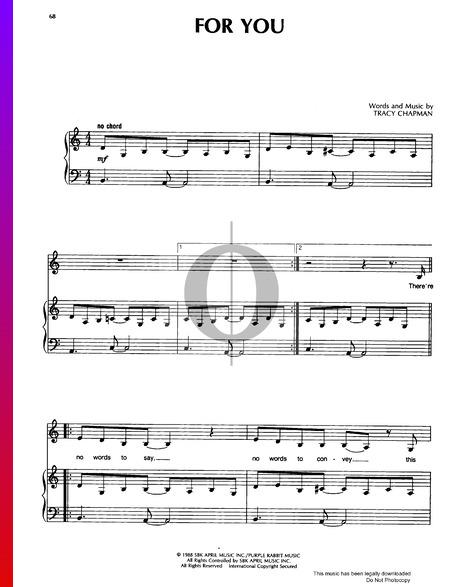 For You Musik-Noten