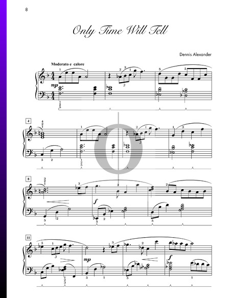 Only Time Will Tell Sheet Music
